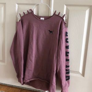 VS PINK sweater with cutout shoulders